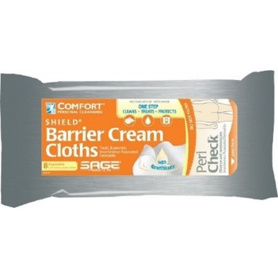 Sage Products Comfort Shield Sheets Barrier Cream Cloths Incontinence Wipes 7905